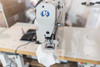 JK-T1900BLX (Programmed for sewing in T-Shirt Tags) Setup with Table, Motor & 110v Ergo Stand