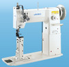 PLN-985  Single Needle, Needle Feed, post bed with roller presser foot (With Table, Mini Servo Motor & Stand)