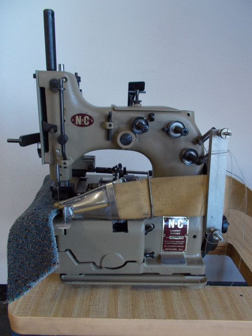 Used NC Carpet Binder Model 81200SM (with Table, motor & stand)