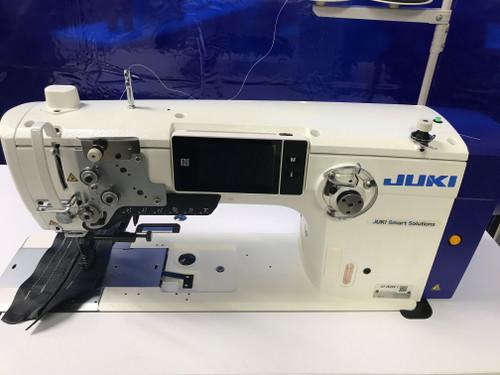 Juki LU-2828VA7NBBSZ-AA Single needle, Unison Feed walking foot with direct driven servo-motor & under-trimmers (Setup on table & stand)