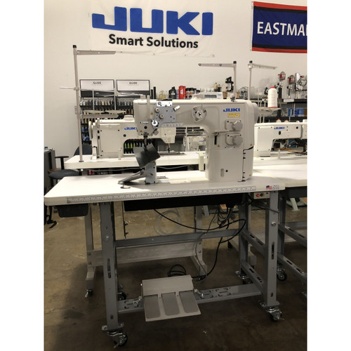 PLC-2710 Single Needle, Unison feed, walking foot Post bed machine With auto foot lift (Setup on Table, motor & stand)
