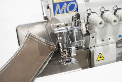 Juki MO-6816S FF650H (For Medium to heavy weight denim) Setup with table, motor & stand