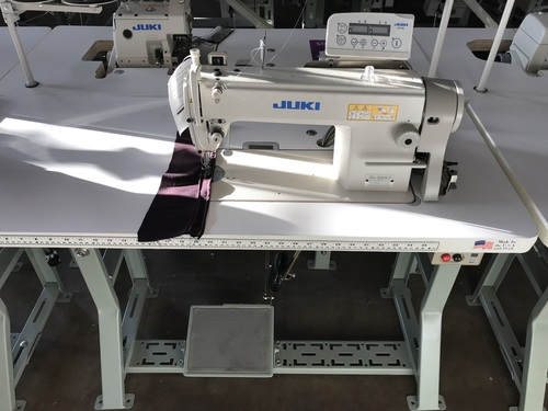 Juki DDL-5550N-7 Lockstitch Machine (Setup on table, servo motor & stand)