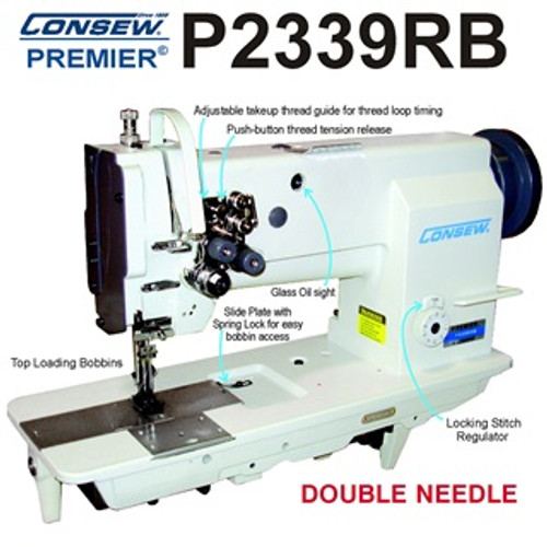 Consew P2339RB Double Needle Walking foot (New machine head Only in MFG Box)