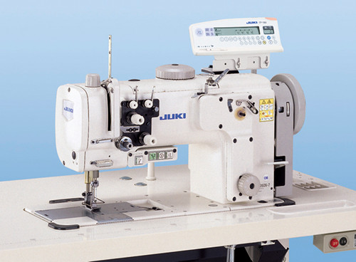 Juki LU-2260N-7 Double Needle, Unison feed (walking foot) machine With table, motor and stand