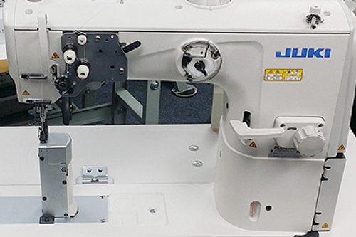 Juki PLC-2710SB-A Single needle post-bed, Unison feed,  walking foot (mechanical Version, with Pneumatic Presser-foot lift) Setup with table, motor & stand