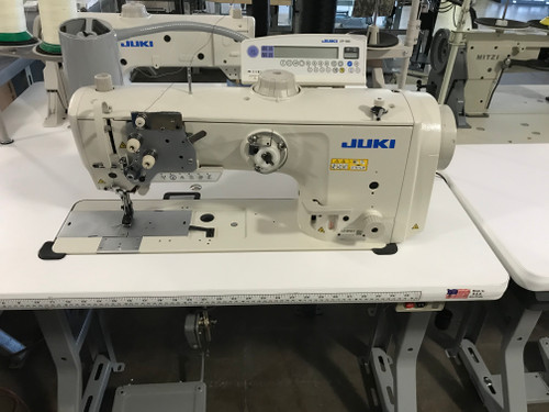 Juki LU-2810-AX73178 Single Needle, Unison feed (Walking foot) with Under-trimmer (Setup with table, motor & stand)