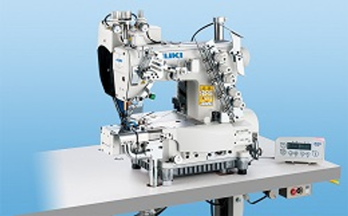 Juki  MF-7913DRH24E64D Three needle Bottom cover-stitch cylinder-bed machine with digital type top feed