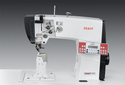 Pfaff 591-900 (Electronic Version) roller presser, needle feed (Setup with table, motor & stand)