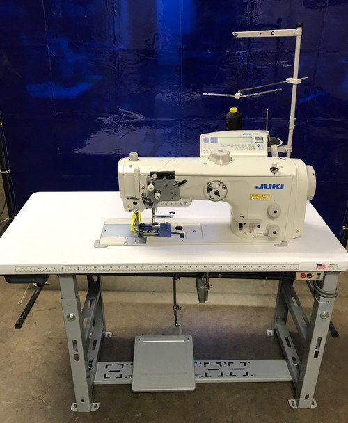 Juki LU-2810A70BSS-DA-Z Single Needle, Unison feed (walking Foot) Setup with table, motor & stand
