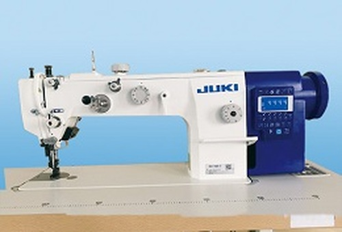 Juki DU-1481-7 Single Needle Walking-foot with thread trimmer & foot lifter (Setup with Table & Stand)