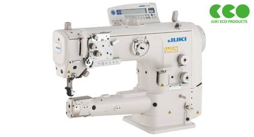 Juki LS-2342S-7-0B Single-needle  Unison Feed Cylinder Arm, Walking Foot  machine with automatic back-tack, under-trimmer & air foot lift (Setup with Table, Motor & Stand)