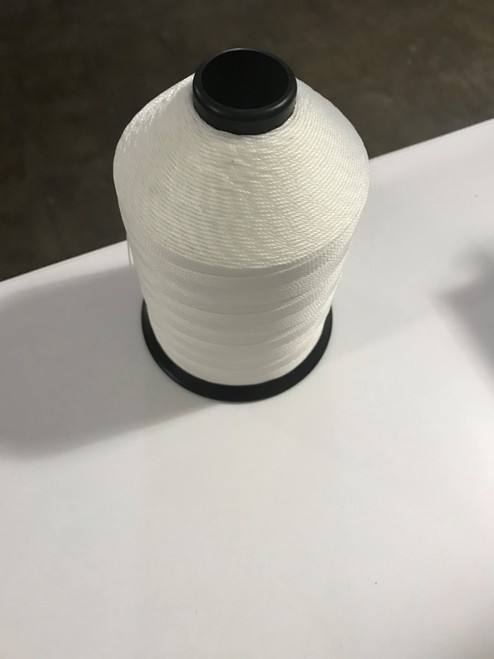 Case (50 spools) of 207 Polyester Bonded White Thread One Pound Spools