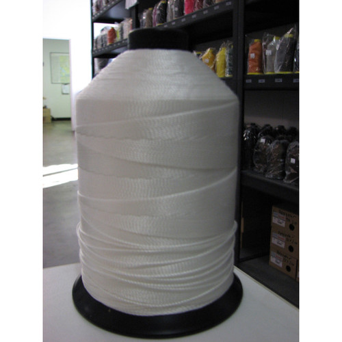 Case (50 spools) of 346 Polyester Bonded White Thread One Pound Spools