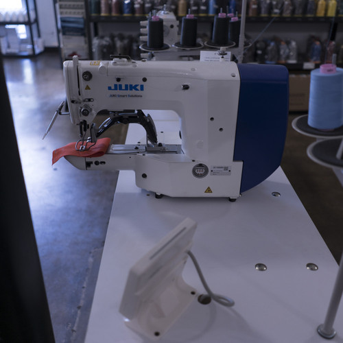 Juki LK-1900BN-HS Computer-controlled, High-speed, Bar-tacking Sewing Machine (Setup with table and stand)