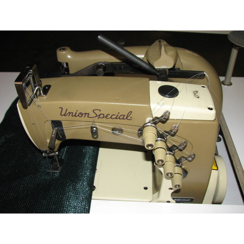 Union Special 56500BL-48 (Special Setup) Double needle chainstitch with heavy duty puller (setup with table, motor & stand)