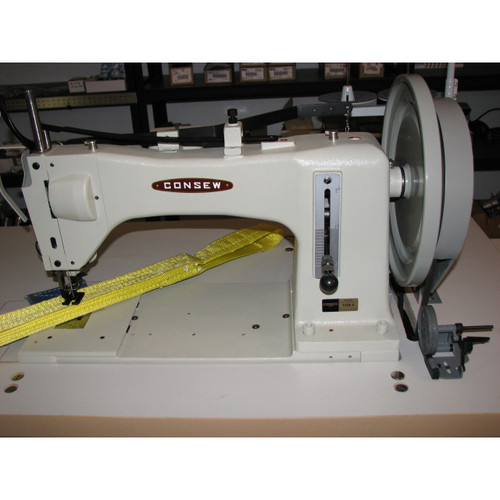 733R-5 Single Needle Heavy Duty Drop Feed Machine (Complete with Table, Motor & Stand)