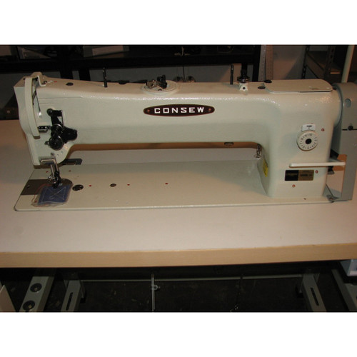 """Consew 206RBL-18 Single Needle, Unison Feed, Walking Foot, 18"""" Long Arm Machine (Setup with Table, Motor & Stand)"""