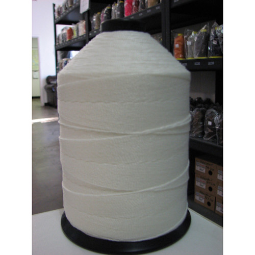 415 Polyester Soft  White Thread 1 lb. Spool