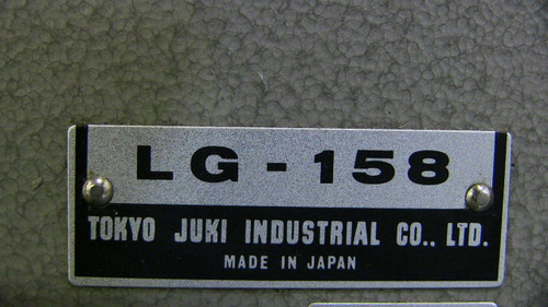 Used Juki LG-158  Heavy duty Double needle walking foot long arm flat bed machine (With table, motor & stand)