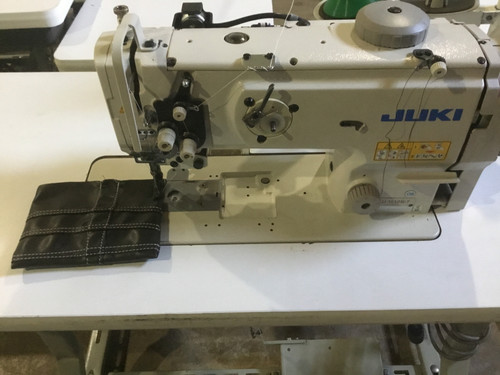 Used Juki LU-1510-7  Single needle walking foot with under-trimmer (with table, servo motor & stand)
