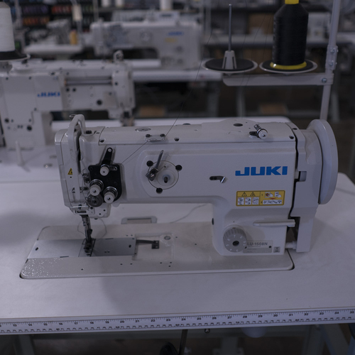 Juki LU-1508N Single Needle, Unison Feed, Walking foot  (Setup with table, motor & stand)