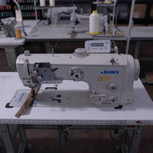 Juki LU-2810A70BSS-DA Single Needle, Unison Feed, walking Foot (Setup with table, motor & stand)