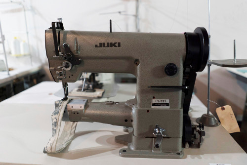 Used Juki LS-321 Cylinder Arm (Setup with table, motor & stand)