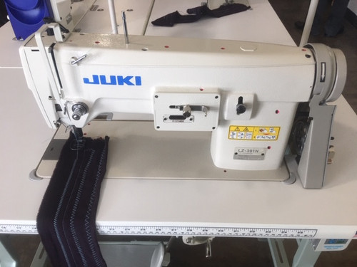 LZ-391N, 1-needle, Lockstitch, Zigzag Stitching Machine/Free-hand Embroidering Sewing Machine (setup on table, motor & stand)