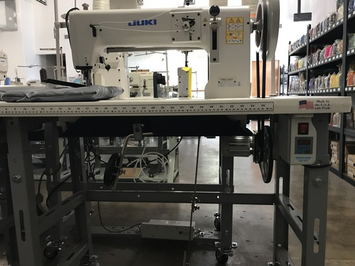 Juki TNU-243U Single Needle Heavy Duty, Unison Feed, Walking Foot Machine (Setup with Table, Motor & Stand)