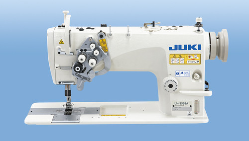 Juki LH-3588AGF Double Needle, Needle Feed machine with split needle bar (Setup on table, motor & stand)