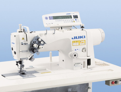Juki LH-3578AGF-7 Double Needle, Needle feed lock-stitch machine with Under-trimmer (Setup on table, motor & stand)