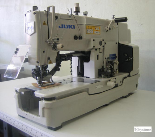 Juki LBH-783U Single needle, Lockstitch Buttonholing Machine (Setup with table, motor & stand)