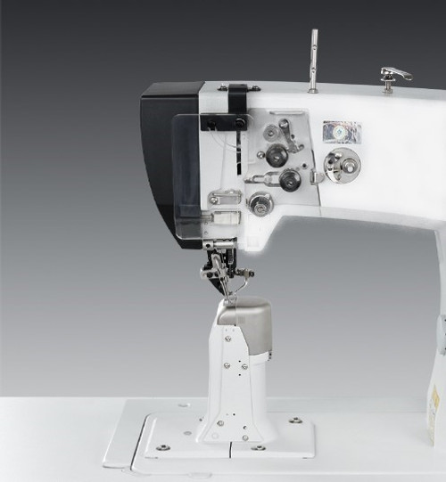 Pfaff 591C (Mechanical Version) roller presser, needle feed (Setup with table, motor & stand)