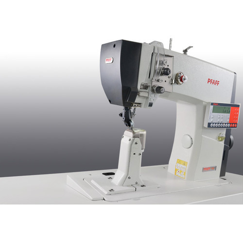 1591 (Electronic Version) Single needle post-bed machine with wheel feed, driven roller presser, needle feed (right post bed)