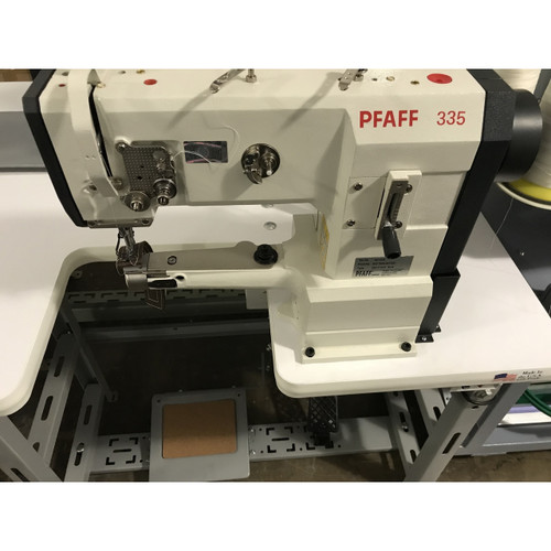 Pfaff 335 Single needle, Cylinder Arm, Unison Feed. walking foot (Setup with table, motor & stand)