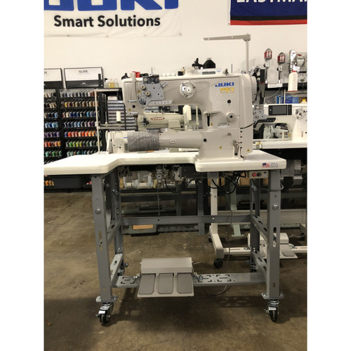 LS-2342S single-needle Cylinder Arm, automatic back-tack & air foot lift (Setup with Table, Motor & Stand)