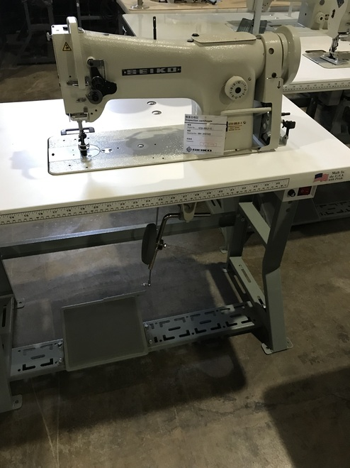 Seiko STH-8BLD-3  Single Needle, Unison Feed, Walking Foot (Setup with Table, Motor & Stand)