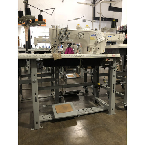 Juki LU-2860-7 Double Needle, Unison Feed, Walking foot (Setup with table, motor & stand)