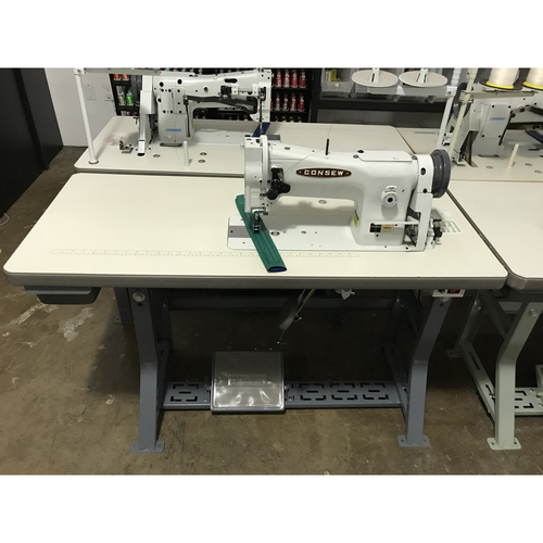 Consew 206RB-5 Single Needle, Unison Feed, Walking Foot (Setup with table, motor & stand)