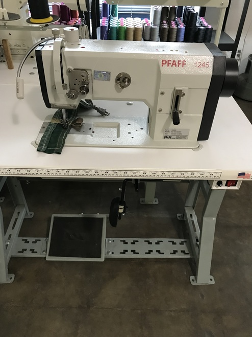 Pfaff 1245-6/01 Single Needle, Unison Feed, Walking Foot (Setup with Table, Motor & Stand)