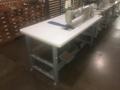 339RBL-25 Double Needle walking foot (Setup with table, motor & stand)