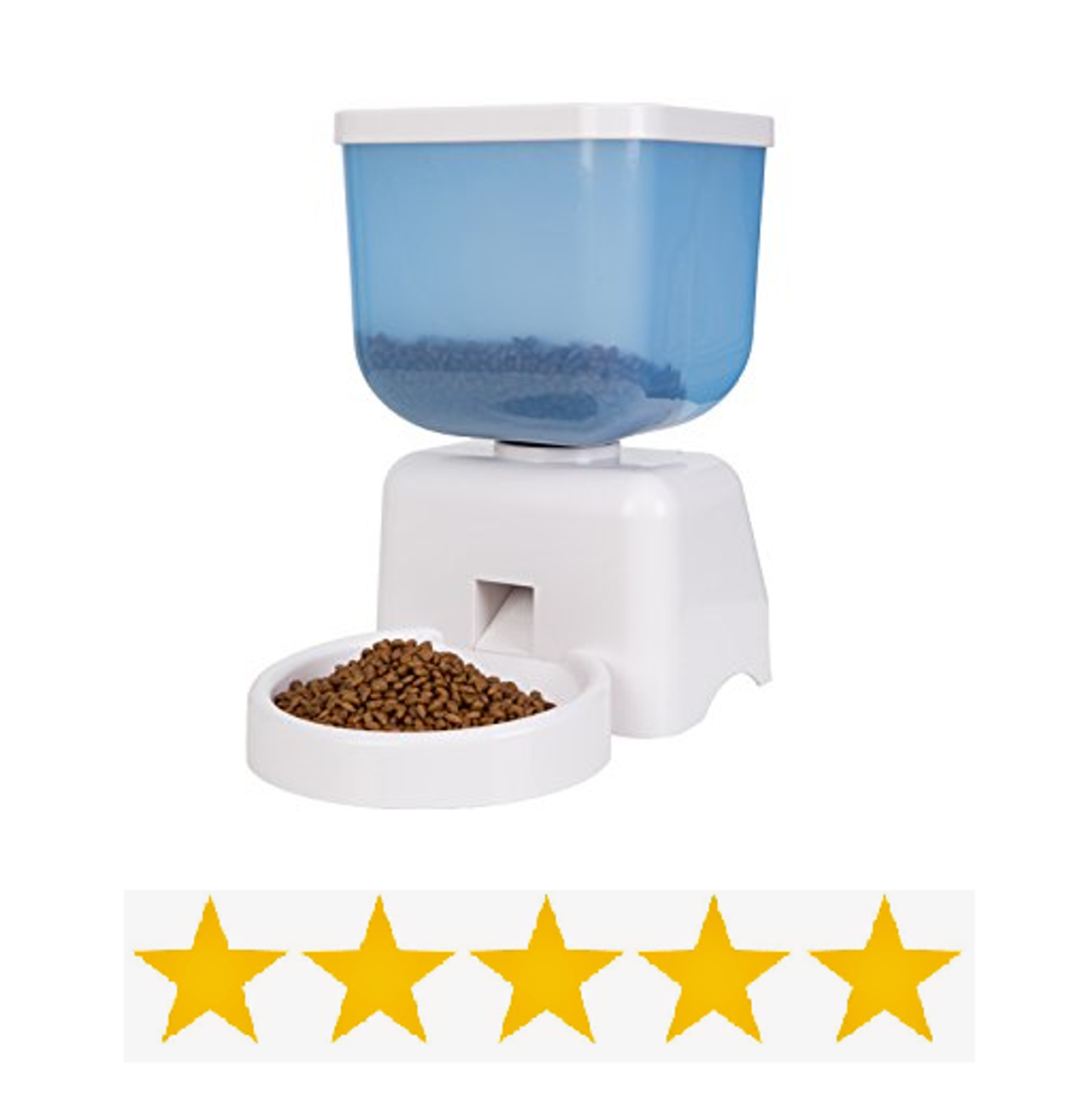 White Electronic Portion Automatic Pet Feeder Pet Food Dispenser 5 Liters Capacity For Cats Small Dogs Rabbits Etc Toronto Canada