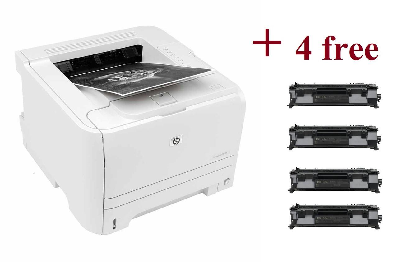 HP LaserJet P2035 Printer - Refurbished with 4 Free Toner Cartridges