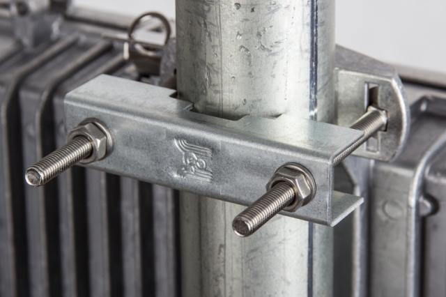 Jirous JE-250 S2T Aluminum Weatherproof Enclosure - Pole mount bracket
