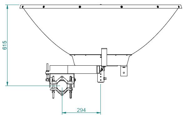 Jirous JRC-35DD DuplEX Precision - High Performance 5 Ghz Long Range Wireless Parabolic Antenna - - Dimensions 2