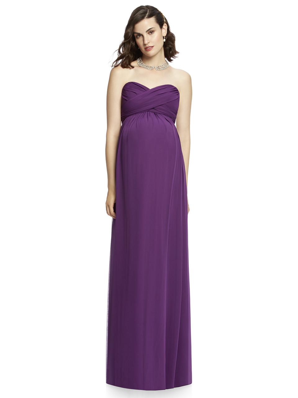 Dessy Maternity Bridesmaids Style M426 by - Chiffon Knit