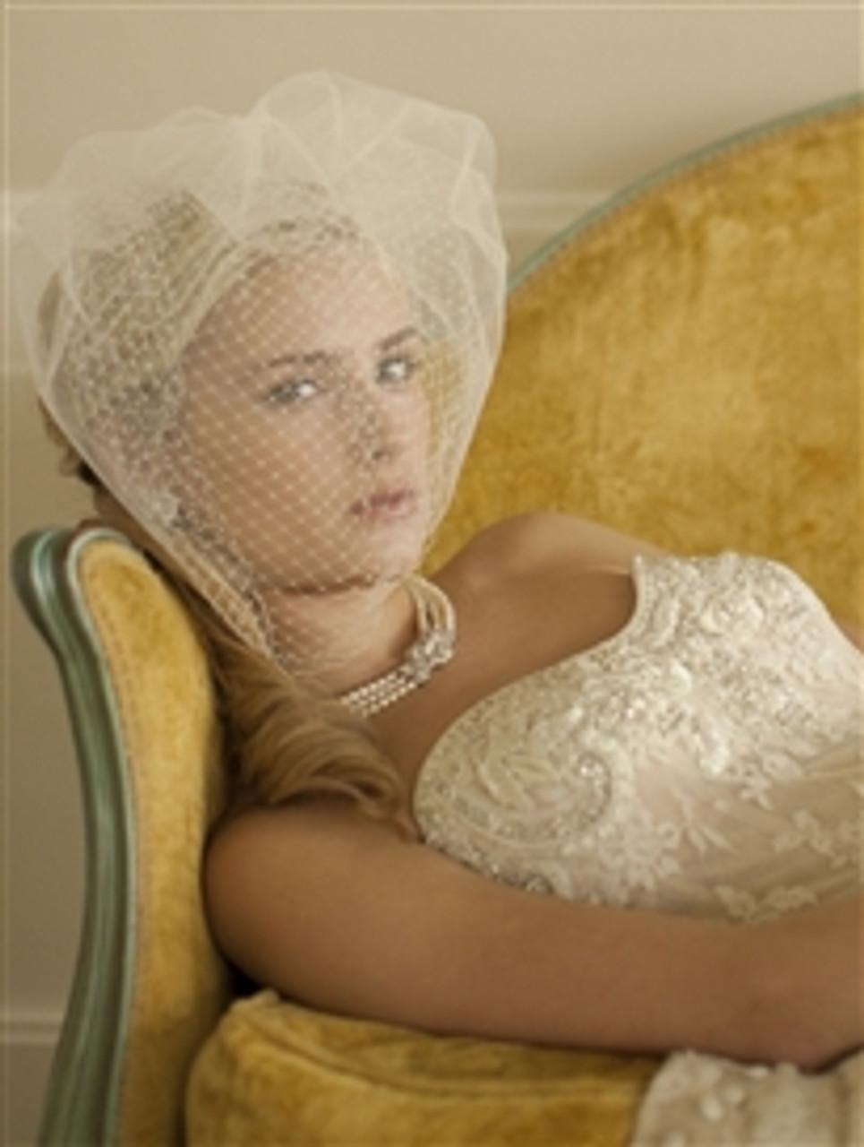 Mariells 3-Row Pearl & Cubic Zirconia Vintage Wedding Necklace 3826N