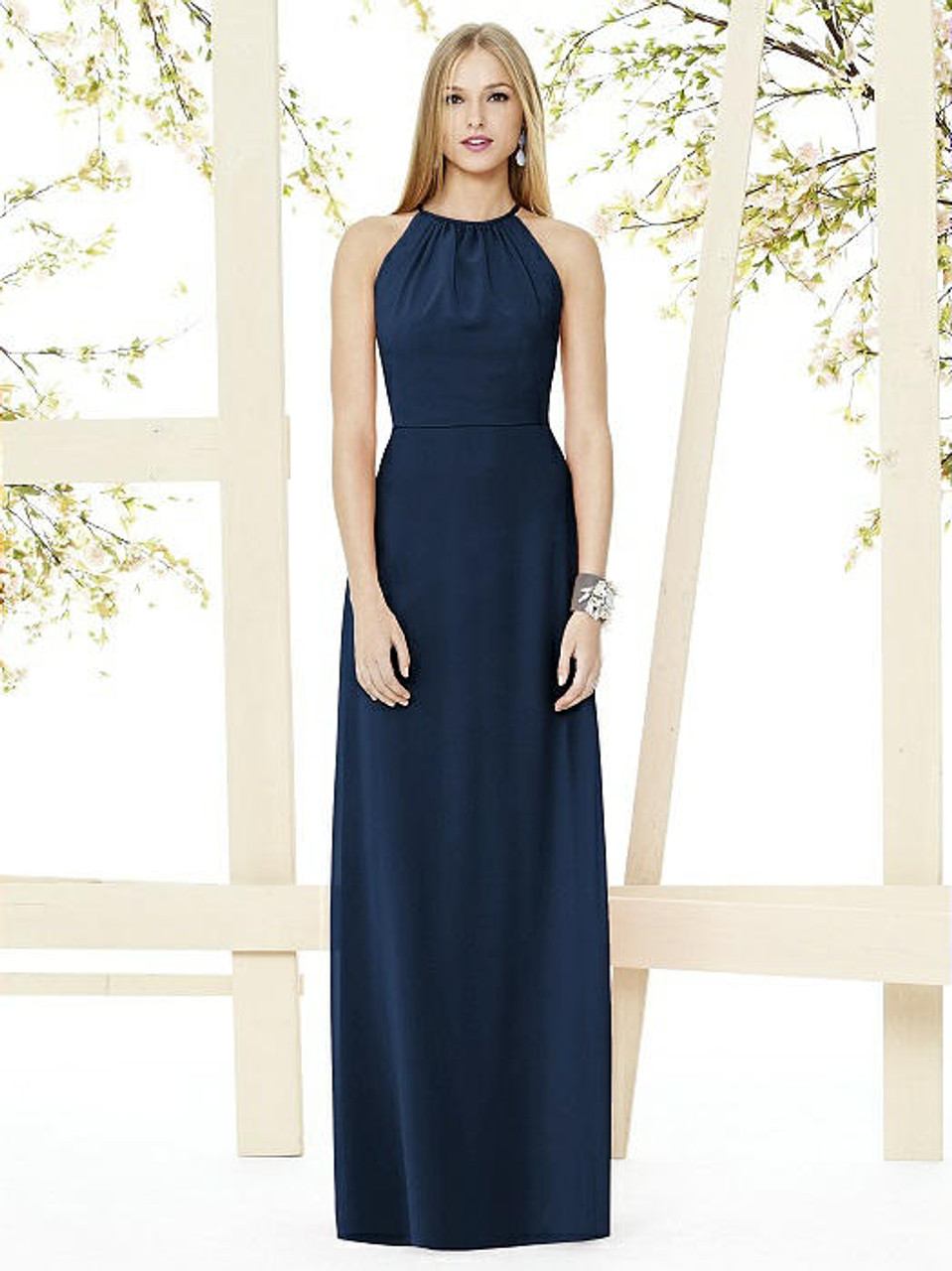 Social Bridesmaids Dress Style 8151 - Matte Chiffon - Midnight - In Stock Dress