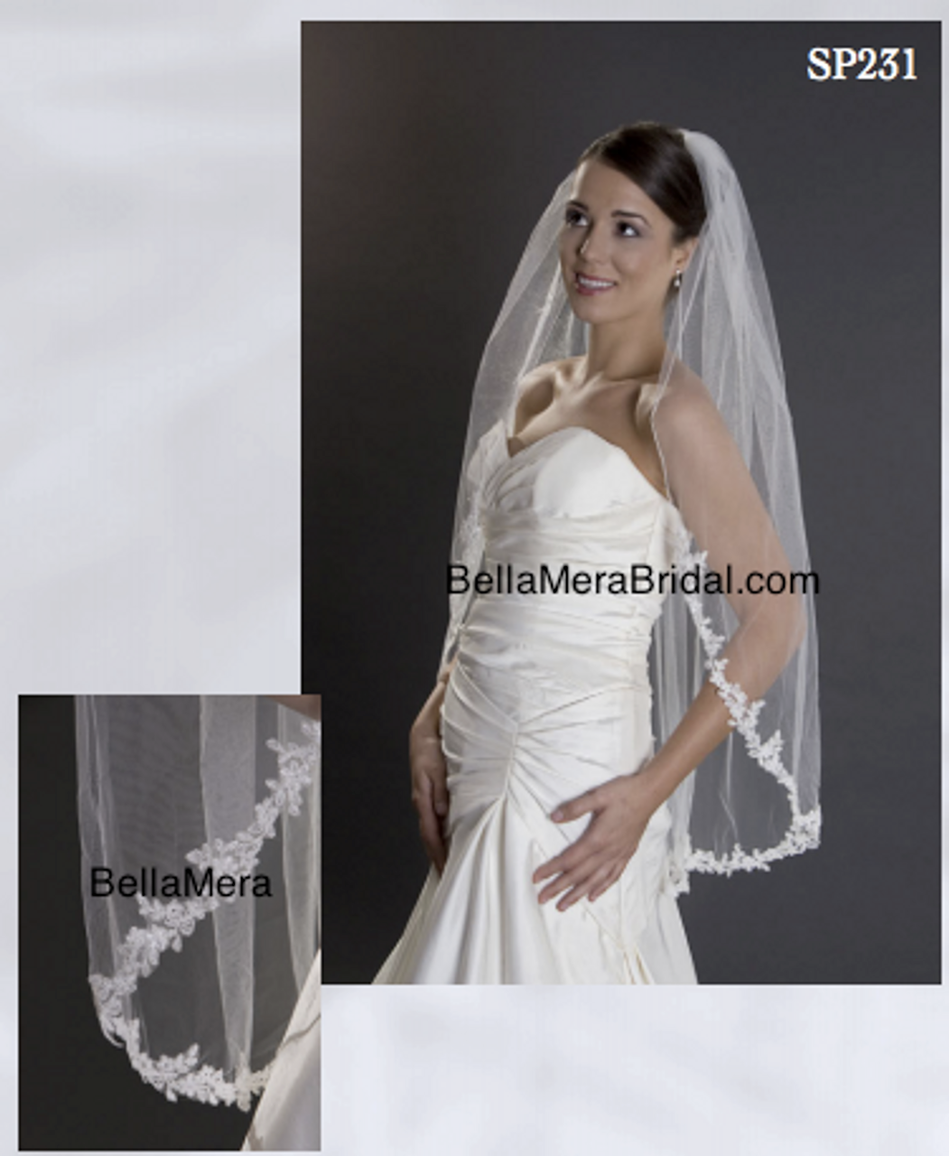Wedding Gown Cleaning And Preservation Cost: Giselle Bridals Veil Style SP231